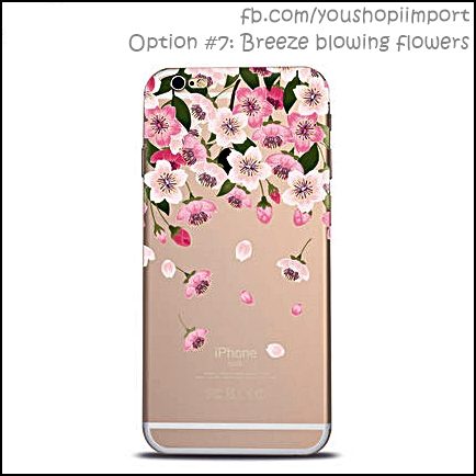 Option #7: Breeze blowing flowers