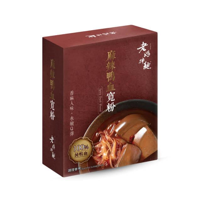 老媽拌麵-麻辣鴨血寬粉(540gx4盒)